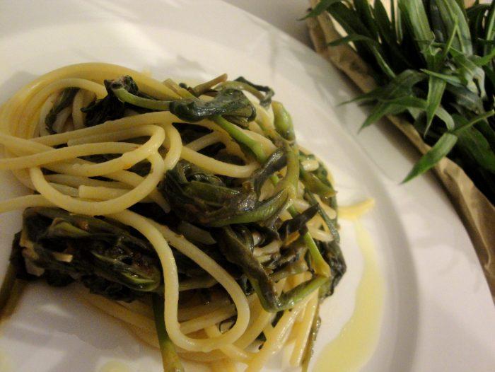 spaghetti con gli stridoli