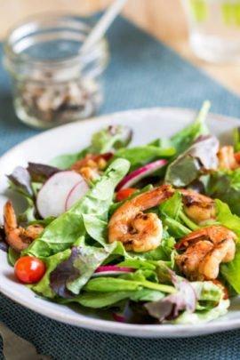 come si usa lo zenzero: insalata di mazzancolle