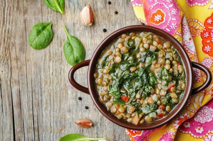 zuppa lenticchie e spinaci