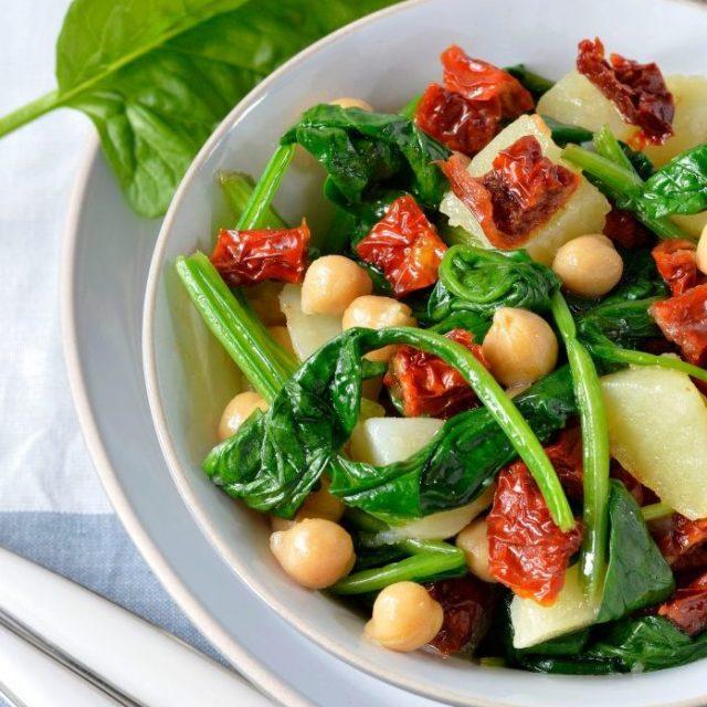 Insalata di ceci e spinaci