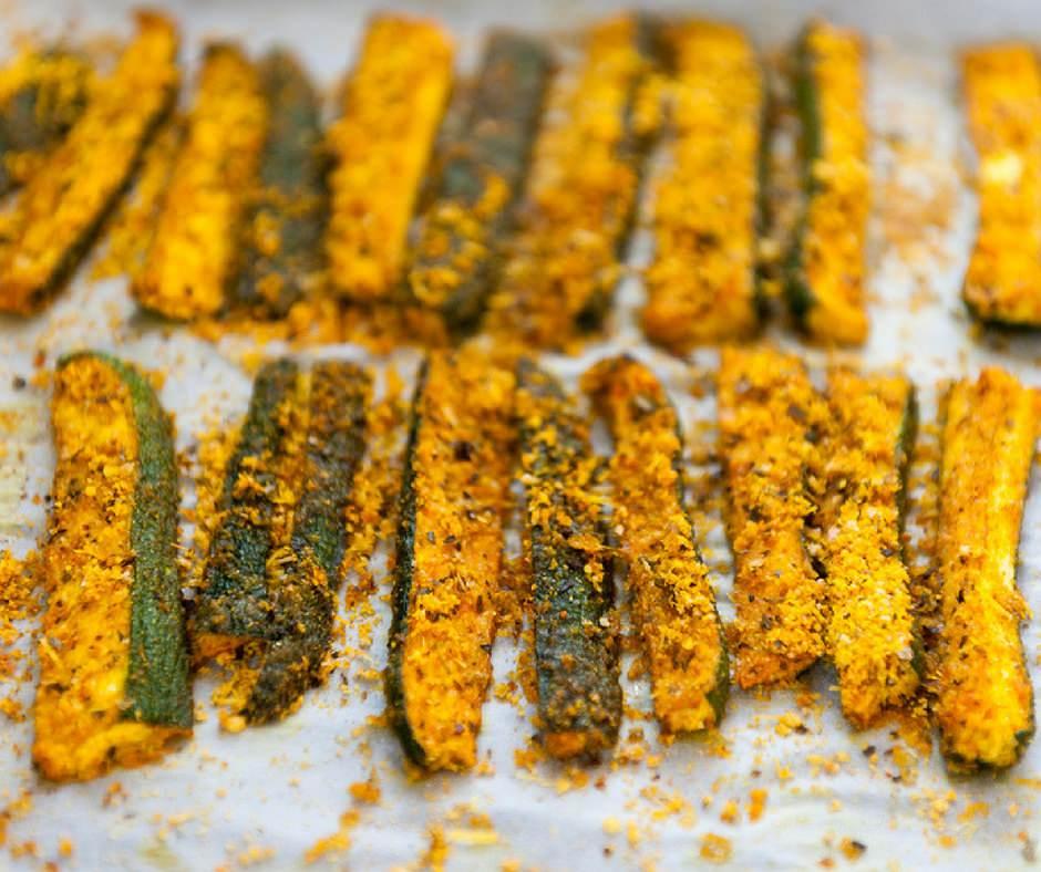 zucchine gratinate alla curcuma